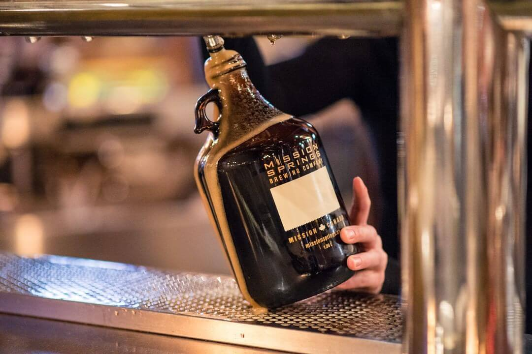 Fill up a growler of beer at Mission Springs Brewing Co