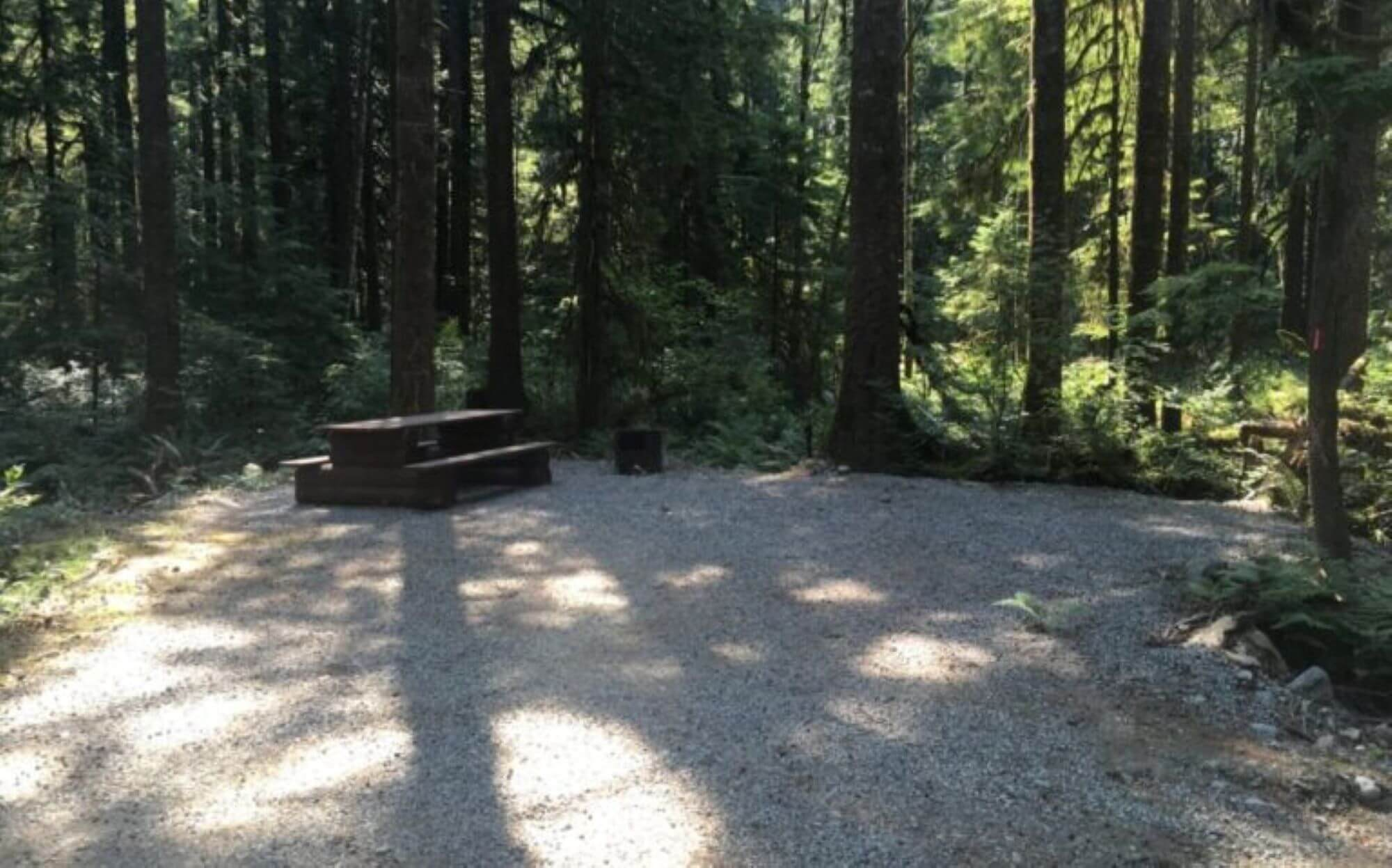 Rock Creek Site with picnic bench